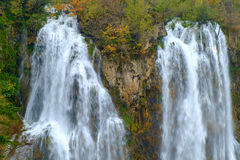 Καταρράκτης οι λίμνες Plitvice το φθινόπωρο Στοκ Εικόνες