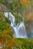 Καταρράκτης οι λίμνες Plitvice το φθινόπωρο Στοκ φωτογραφία με δικαίωμα ελεύθερης χρήσης