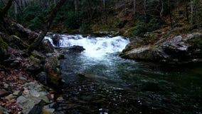 Καταρράκτης ποταμών Ocanaluftee Στοκ εικόνα με δικαίωμα ελεύθερης χρήσης