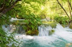 Καταρράκτης στις λίμνες Plitvice - εθνικό πάρκο της Κροατίας Στοκ φωτογραφίες με δικαίωμα ελεύθερης χρήσης