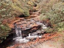 Καταρράκτης στο δάσος φθινοπώρου Στοκ φωτογραφία με δικαίωμα ελεύθερης χρήσης