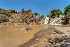Καταρράκτης στο εθνικό πάρκο Awash στοκ εικόνες
