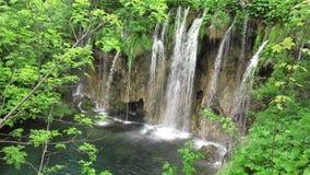 Καταρράκτης στο εθνικό πάρκο Plitvice απόθεμα βίντεο