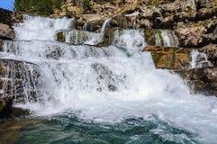 Καταρράκτης την άνοιξη στην κοιλάδα Ordesa, Αραγονία, Ισπανία Στοκ εικόνα με δικαίωμα ελεύθερης χρήσης