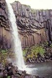 καταρράκτης της Ισλανδίας ν π skaftafell svartifoss Στοκ εικόνες με δικαίωμα ελεύθερης χρήσης