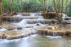 καταρράκτης της Ταϊλάνδης kanchanaburi kamin huai mae Στοκ Φωτογραφία