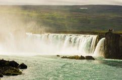 Καταρράκτης Godafoss ή καταρράκτης των Θεών, βόρεια Ισλανδία Στοκ Εικόνες