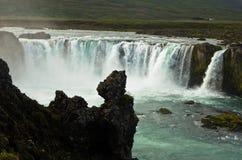 Καταρράκτης Godafoss ή καταρράκτης των Θεών, βόρεια Ισλανδία Στοκ φωτογραφία με δικαίωμα ελεύθερης χρήσης
