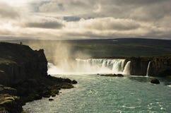Καταρράκτης Godafoss ή καταρράκτης των Θεών, βόρεια Ισλανδία Στοκ Εικόνα