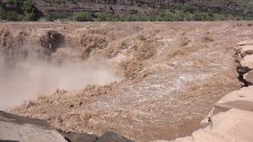 Καταρράκτης Hukou του κίτρινου ποταμού απόθεμα βίντεο