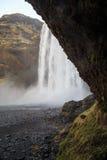 Καταρράκτης Skógafoss στη νότια Ισλανδία Στοκ Εικόνα