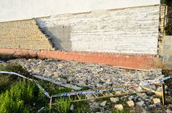Καταρρεσμένος φραγμός του τοίχου Στοκ εικόνα με δικαίωμα ελεύθερης χρήσης