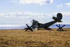 Καταρριμμένος ένα αεροπλάνο Στοκ Εικόνα