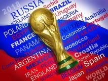 Καταρτισμένες ομάδες Παγκόσμιου Κυπέλλου 2018 Στοκ εικόνα με δικαίωμα ελεύθερης χρήσης