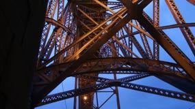 Κατασκευές μετάλλων της γέφυρας Στοκ Εικόνες