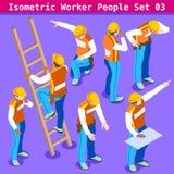 Κατασκευή 03 άνθρωποι Isometric Στοκ φωτογραφίες με δικαίωμα ελεύθερης χρήσης