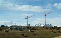 Κατασκευή αερολιμένων Στοκ Εικόνες