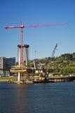 Κατασκευή από τον ποταμό Willamette Στοκ εικόνες με δικαίωμα ελεύθερης χρήσης