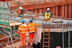 κατασκευή γεφυρών κάτω Στοκ Φωτογραφία