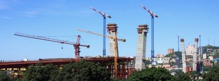 κατασκευή γεφυρών κάτω Στοκ φωτογραφίες με δικαίωμα ελεύθερης χρήσης