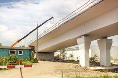 κατασκευή γεφυρών κάτω Στοκ Εικόνες