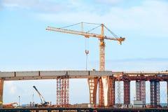 κατασκευή γεφυρών κάτω Στοκ φωτογραφία με δικαίωμα ελεύθερης χρήσης