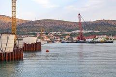 Κατασκευή γεφυρών σε Trogir, Κροατία Στοκ εικόνες με δικαίωμα ελεύθερης χρήσης