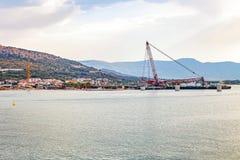 Κατασκευή γεφυρών σε Trogir, Κροατία Στοκ φωτογραφία με δικαίωμα ελεύθερης χρήσης