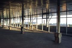Κατασκευή ενός εμπορικού κέντρου Στοκ εικόνα με δικαίωμα ελεύθερης χρήσης