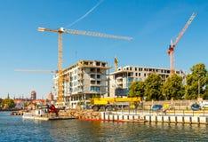 Κατασκευή ενός κατοικημένου συγκροτήματος Στοκ Φωτογραφία