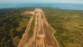 Κατασκευή ενός νέου τερματικού αερολιμένων Φιλιππίνες, Bohol, Panglao απόθεμα βίντεο