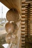 Κατασκευή ενός ξύλινου σπιτιού Στοκ φωτογραφίες με δικαίωμα ελεύθερης χρήσης