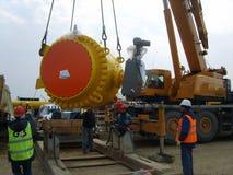 Κατασκευή ενός πετρελαίου και ενός αγωγού υγραερίου Στοκ Εικόνες