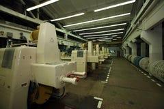 Κατασκευή ενός φυσικού κοχυλιού για το λουκάνικο Κοχύλι κολλαγόνων για τα λουκάνικα Βιομηχανία περιβλημάτων κολλαγόνων για τα προ Στοκ Φωτογραφία