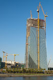 Κατασκευή Ευρωπαϊκής Κεντρικής Τράπεζας Στοκ Φωτογραφίες