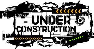 κατασκευή κάτω Στοκ Εικόνα