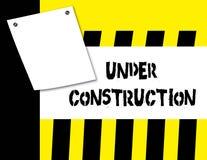 κατασκευή κάτω Στοκ εικόνα με δικαίωμα ελεύθερης χρήσης