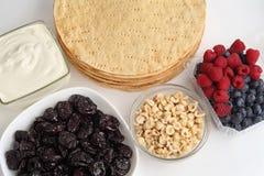 Κατασκευή κέικ Τα συστατικά για το κέικ Στοκ φωτογραφία με δικαίωμα ελεύθερης χρήσης
