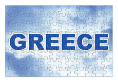 Κατασκευή και αναδημιουργία της Ελλάδας - εικόνα έννοιας jig Στοκ Εικόνα