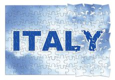 Κατασκευή και αναδημιουργία της Ιταλίας - εικόνα έννοιας jigs στοκ φωτογραφία