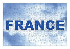 Κατασκευή και αναδημιουργία της Γαλλίας - εικόνα έννοιας Στοκ φωτογραφίες με δικαίωμα ελεύθερης χρήσης
