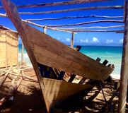 Κατασκευή μιας βάρκας στοκ εικόνες
