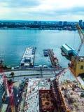 κατασκευή Νέα Υόρκη πόλεω Στοκ Εικόνες