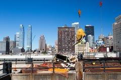 κατασκευή Νέα Υόρκη Στοκ εικόνα με δικαίωμα ελεύθερης χρήσης