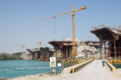 κατασκευή Ντουμπάι Στοκ φωτογραφίες με δικαίωμα ελεύθερης χρήσης