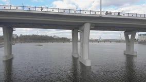Κατασκευή οδικών γεφυρών, εναέρια έρευνα απόθεμα βίντεο