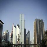 Κατασκευή οριζόντων του Ντουμπάι Στοκ φωτογραφία με δικαίωμα ελεύθερης χρήσης