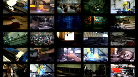 Κατασκευή πολυ-οθόνης βιομηχανίας απόθεμα βίντεο
