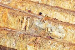 Κατασκευή σε πεζούλες το ορυχείο Corta Atalaya, Huelva, Ισπανία στοκ εικόνες με δικαίωμα ελεύθερης χρήσης