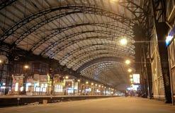 Κατασκευή στεγών χάλυβα στο σταθμό τρένου Χάρλεμ Στοκ Φωτογραφίες